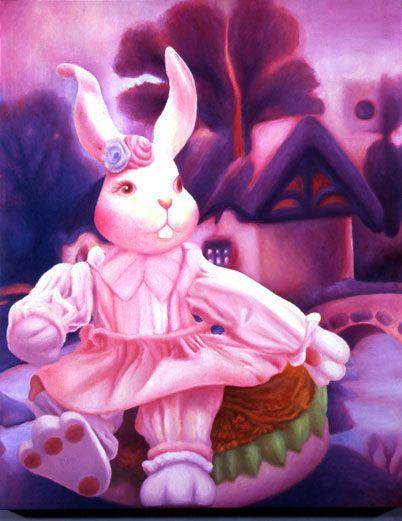 Coniglietta rosa